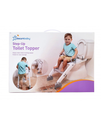STEP-UP TOILET TOPPER - GREY/WHITE