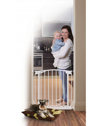 ZOE AUTO-CLOSE PET SECURITY GATE- WHITE