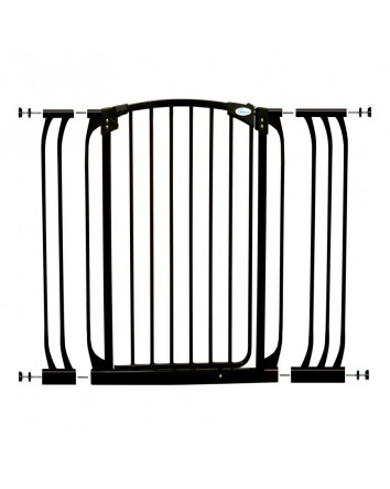 CHELSEA XTRA-TALL BLACK GATE & EXTENSION SET (1 GATE 2 EXTENSIONS)