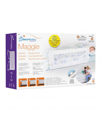 MAGGIE BED RAIL - FITS RECESSED FLAT AND SLAT BED BASES - WHITE