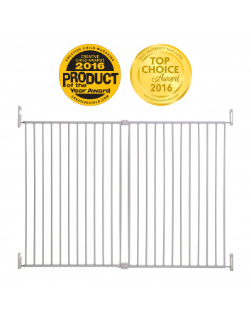 BROADWAY GRO-GATE XTRA-WIDE AND XTRA-TALL WHITE