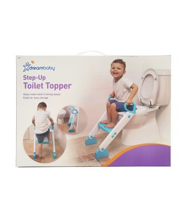 STEP-UP TOILET TOPPER - AQUA/WHITE