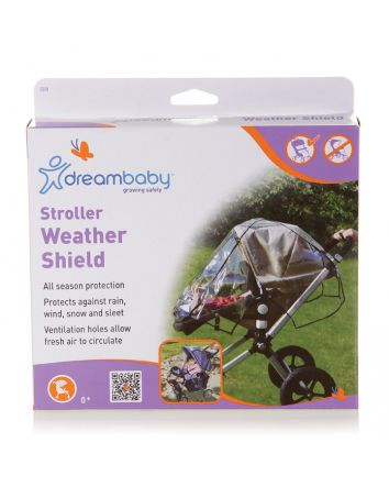STROLLER WEATHER SHIELD WITH BLACK PIPING