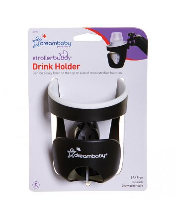 STROLLERBUDDY® DRINK HOLDER -BLACK/CREAM TRIM