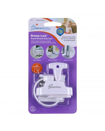 BREEZZ-LOCK® KEYED WINDOW RESTRICTOR